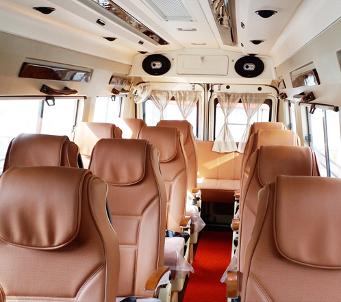 15 seater tempo traveller hire in gurgaon